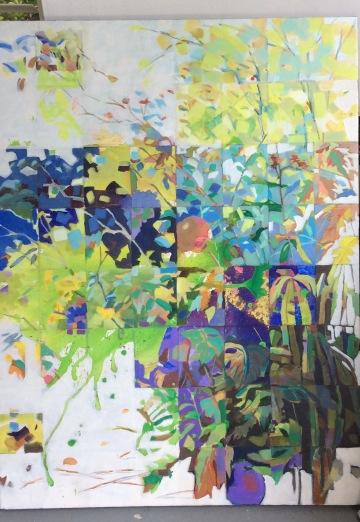 "Anne Mitro Sunny Park Acrylic 30"" x 40"" 76.2 cm x 101.6 cm"