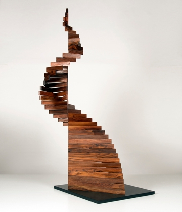 "Robert Winkler, Babble On, Brazilian rosewood, tung oil, 46"" x 22"" x 24"" Brazilian rosewood, tung oil, 46"" x 22"" x 24"""