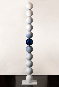 Robert Winkler, Looking at You 2, Stainless steel, enamel, clearcoat 9.25' 2' x 2'