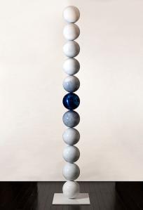 Robert Winkler, Looking at You 2, Stainless steel, enamel, clearcoat 9.25' 2' x 2'