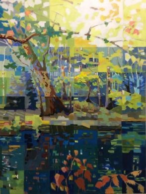 Anne Mitro, Summer Reflections, Acrylic, 30 × 40 in. $3000