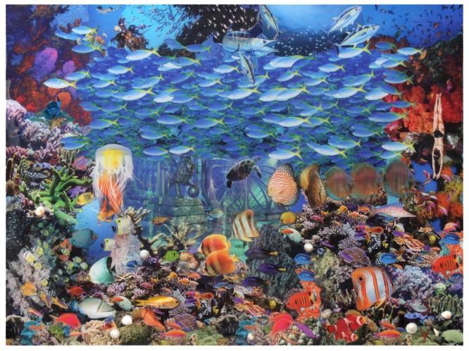 "Robert Swedroe, Atlantis Revisited (2010), Mixed Media on Board, 32"" x 24"""