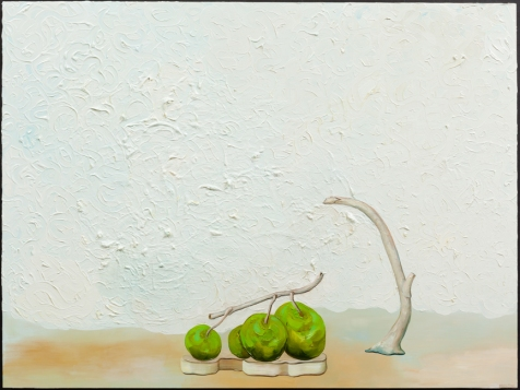 "Thomas Frontini, Offering on the Alter #3, 2014, Oil on Panel, 18"" x 24""   $1,800"
