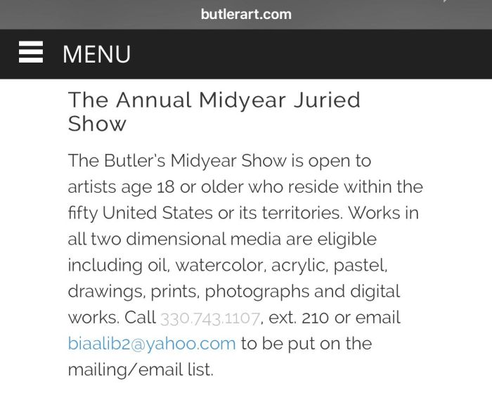 The Annual Midyear Juried Show